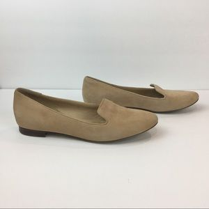 J. Crew Shoes - J Crew Suede Loafers Slip On Flats Tan Size 8